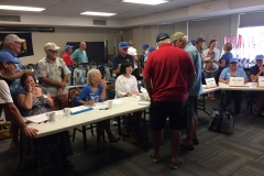 Transpac skippers' check-in.